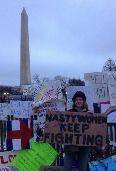 Jill Linta, Democratic candidate for Pennsylvania House of Representatives for the 106th District, at the Women's March in Washington, D.C.
